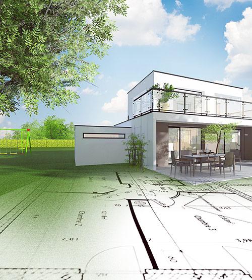 Plans architecture et élévation 3D pour permis de construire